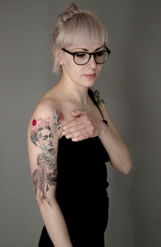 tatuajes frida kahlo 30 • 2020 » Ideas Originales para Tatuajes de Frida Kahlo 33