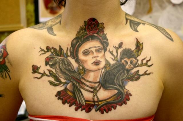 tatuajes frida kahlo 4 • 2020 » Ideas Originales para Tatuajes de Frida Kahlo 10