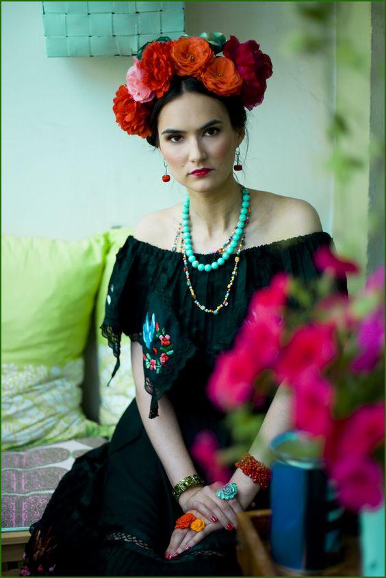 disfraz frida kahlo mujer 4 » Geniales ideas para un Disfraz de Frida Kahlo 13
