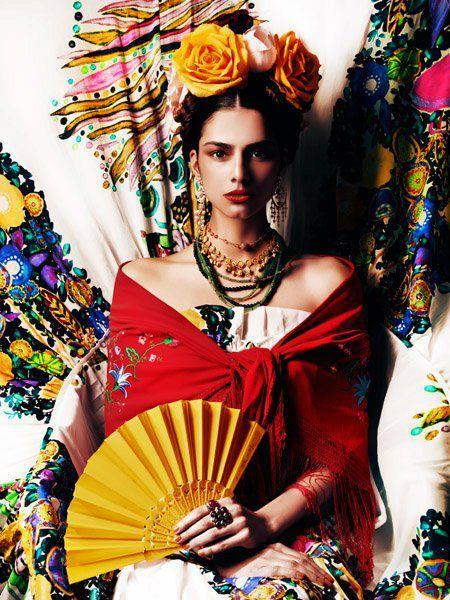Geniales ideas para un Disfraz de Frida Kahlo ⋆ Catrinas10 Aretes De Coco