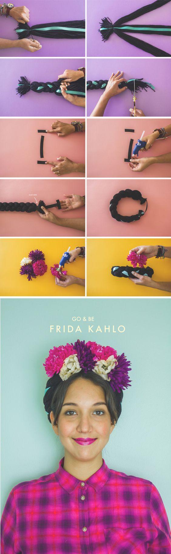 paso a paso trenza frida kahlo » Geniales ideas para un Disfraz de Frida Kahlo 10