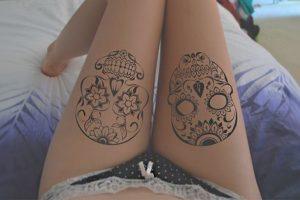 portada tatuajes calaveras mexicanas • 2020 » 33 Tatuajes de Calaveras Mexicanas (+Significados) 26
