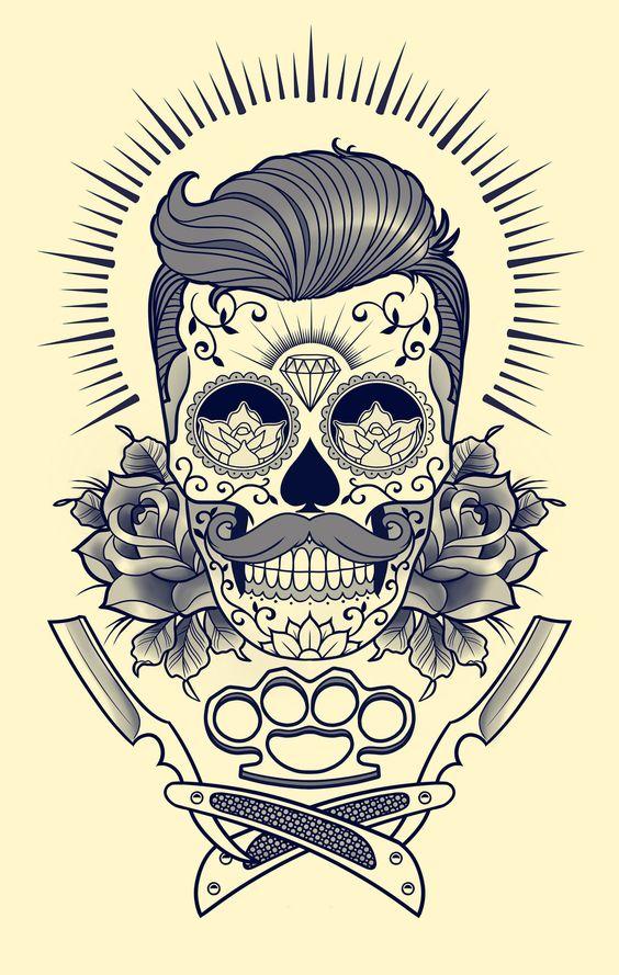 tatuajes calaveras mexicanas diseños 1 • 2020 » 33 Tatuajes de Calaveras Mexicanas (+Significados) 33