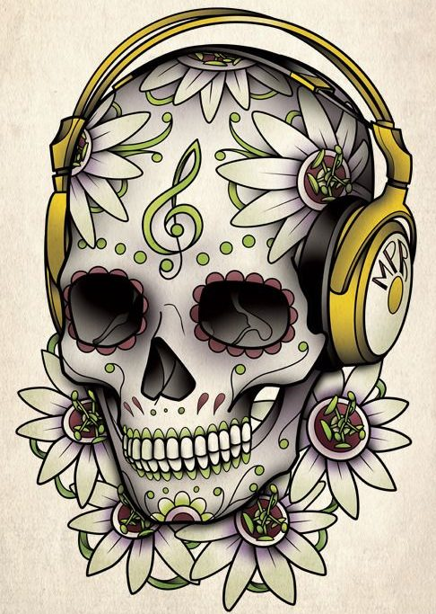 tatuajes calaveras mexicanas diseños 2 e1498425588203 • 2020 » 33 Tatuajes de Calaveras Mexicanas (+Significados) 38