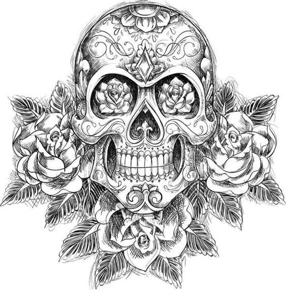 tatuajes calaveras mexicanas diseños 3 • 2020 » 33 Tatuajes de Calaveras Mexicanas (+Significados) 37
