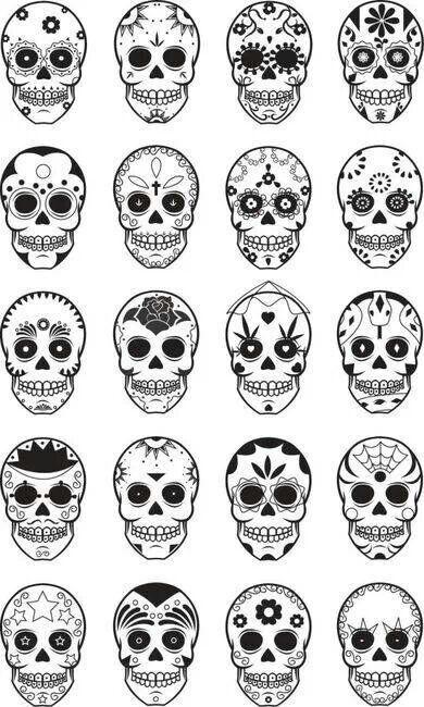 tatuajes calaveras mexicanas diseños 4 • 2020 » 33 Tatuajes de Calaveras Mexicanas (+Significados) 36