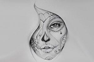 portada diseños catrinas • 2020 » 50 Diseños de Catrinas y Bocetos de Tatuajes de Calaveras Mexicanas 6