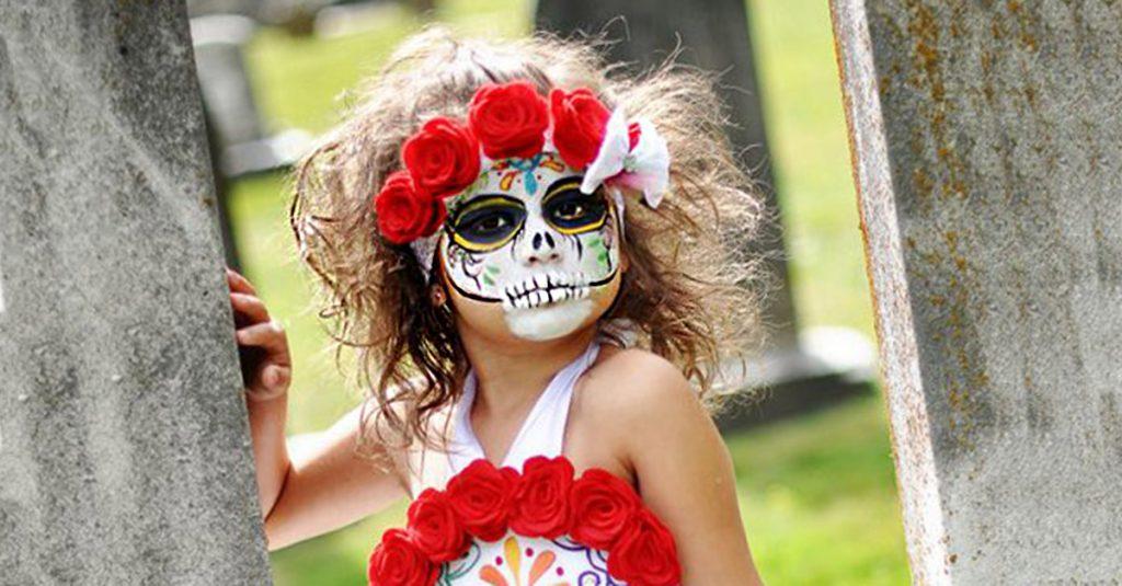 portada disfraz nina catrinas » Disfraces de Catrinas para niñas o Catrin para niños ¿Cómo hacerlo? 1