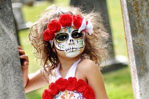 portada disfraz nina catrinas » Disfraces de Catrinas para niñas o Catrin para niños ¿Cómo hacerlo? 7