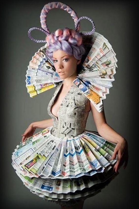 vestidos de catrinas de papel 2 » Vestidos de Catrinas: 50 Ideas Originales 24