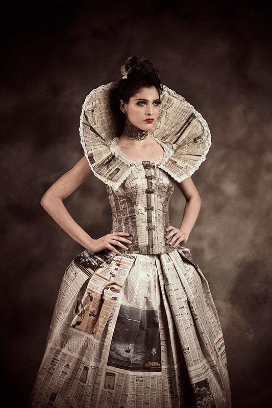 vestidos de catrinas de papel 3 » Vestidos de Catrinas: 50 Ideas Originales 25