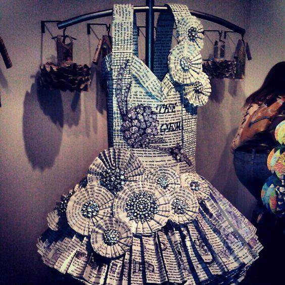 vestidos de catrinas de papel 6 » Vestidos de Catrinas: 50 Ideas Originales 28