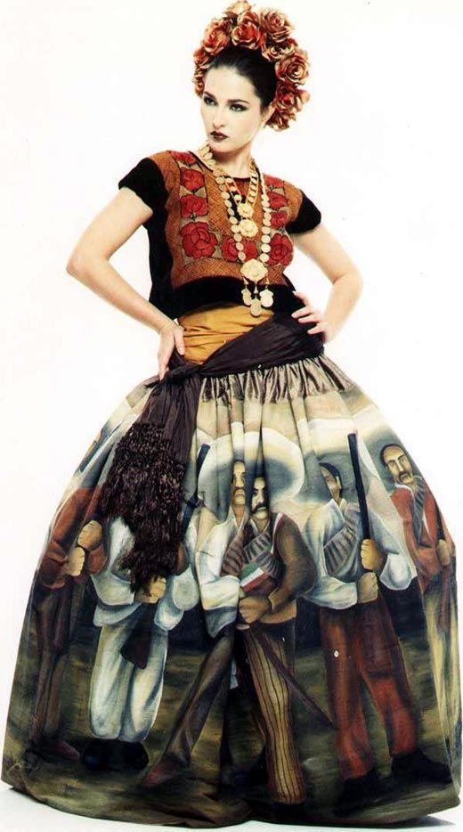 vestidos de catrinas elegantes 7 » Vestidos de Catrinas: 50 Ideas Originales 8