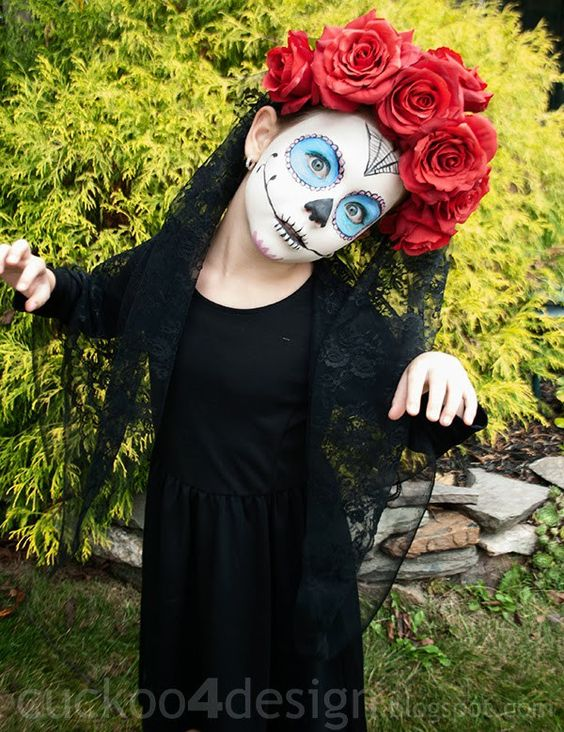 Vestidos de catrinas ni as 8 catrinas10 - Como pintar a una nina de bruja para halloween ...