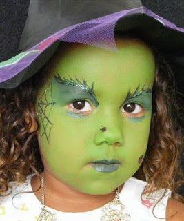 maquillaje de bruja para niñas bonita 1 » Maquillajes de Brujas para Halloween 17