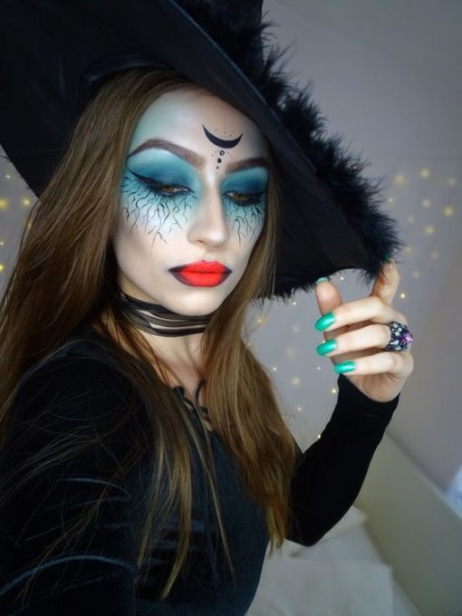 maquillaje de bruja sencillo 3 » Maquillajes de Brujas para Halloween 10