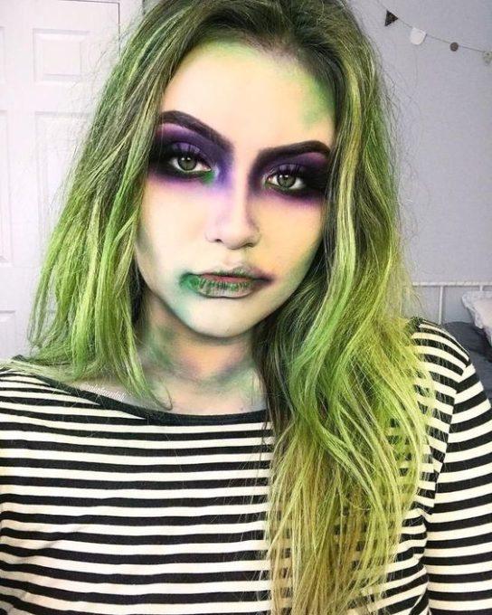 maquillaje de bruja verde 1 » Maquillajes de Brujas para Halloween 26