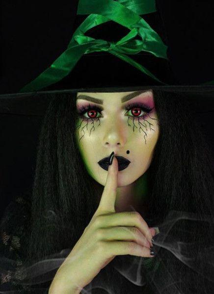 maquillaje de bruja verde 2 » Maquillajes de Brujas para Halloween 25
