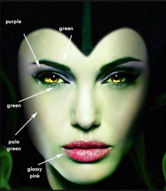 maquillaje de bruja verde 3 1 » Maquillajes de Brujas para Halloween 23
