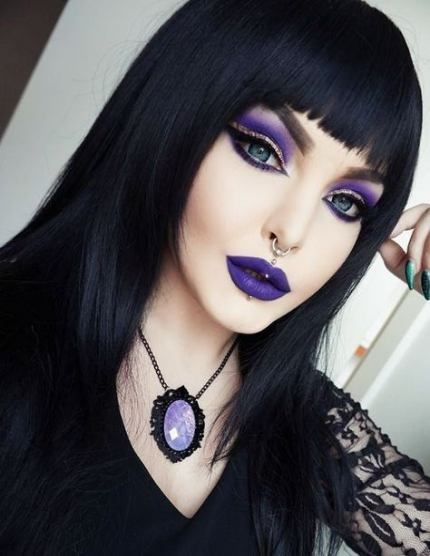 maquillaje de brujas modernas 1 » Maquillajes de Brujas para Halloween 2