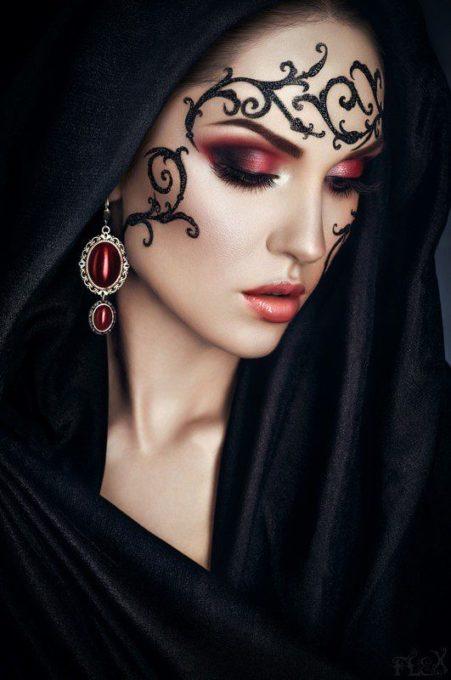maquillaje de brujas modernas 4 » Maquillajes de Brujas para Halloween 5
