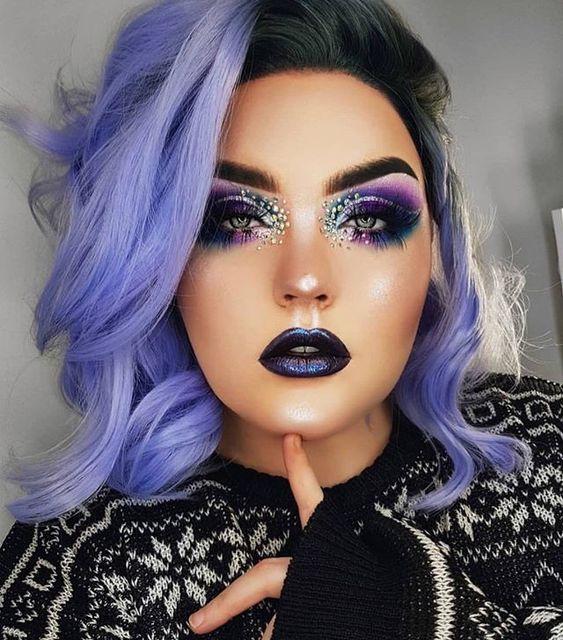 maquillaje de brujas modernas 5 » Maquillajes de Brujas para Halloween 6