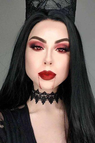 maquillaje de brujas modernas 6 » Maquillajes de Brujas para Halloween 7