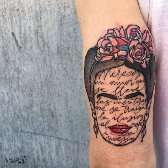 tatuajes frida kahlo 2 • 2020 » Ideas Originales para Tatuajes de Frida Kahlo 3